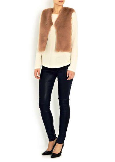 Paul & Joe Sister Nouours Faux Fur Gillet - Vieux Rose main image