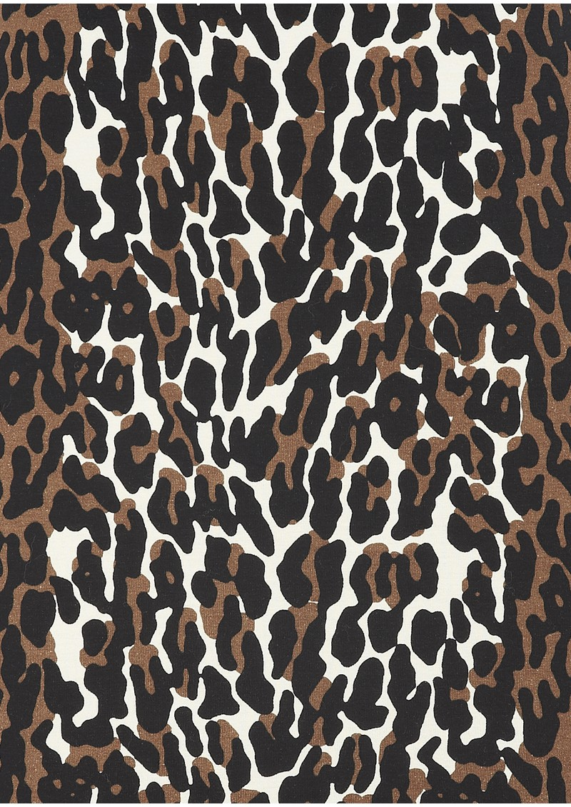 NADIA TARR Animal Print Padded Shoulder Gown - Leopard  main image