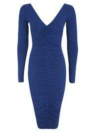 NADIA TARR Ruched Pencil Dress - Cobalt