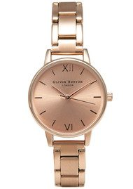 Olivia Burton Medium Dial Bracelet Watch - Rose Gold