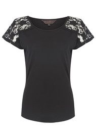 Great Plains Emerson Lace Top - Black
