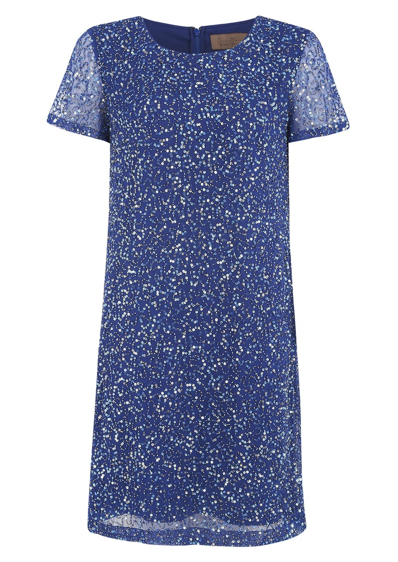Stardust Embellished Dress - Electric Blue main image