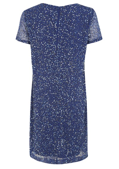 Great Plains Stardust Embellished Dress - Electric Blue main image
