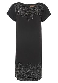 Great Plains Wintersweet Beaded Dress - Black