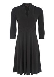 Great Plains Seattle Jersey Ruched Dress - Black