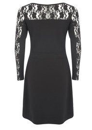 Great Plains Ava Lace Detail Dress - Black