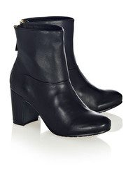 Lola Cruz Zip Ankle Boots - Black