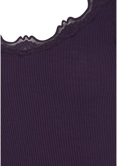 Rosemunde Silk Blend Wide Lace Vest - Purple Melange main image
