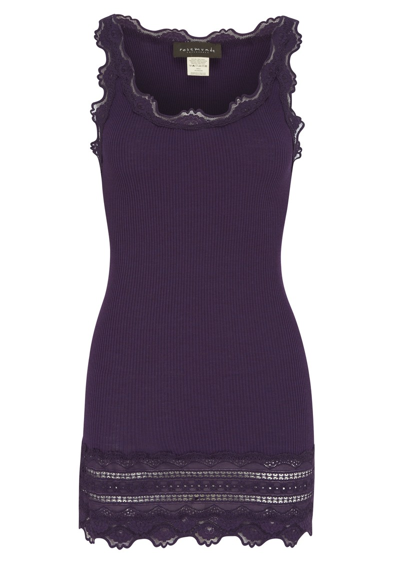 Rosemunde Silk Blend Wide Lace Vest - Purple Melange main image
