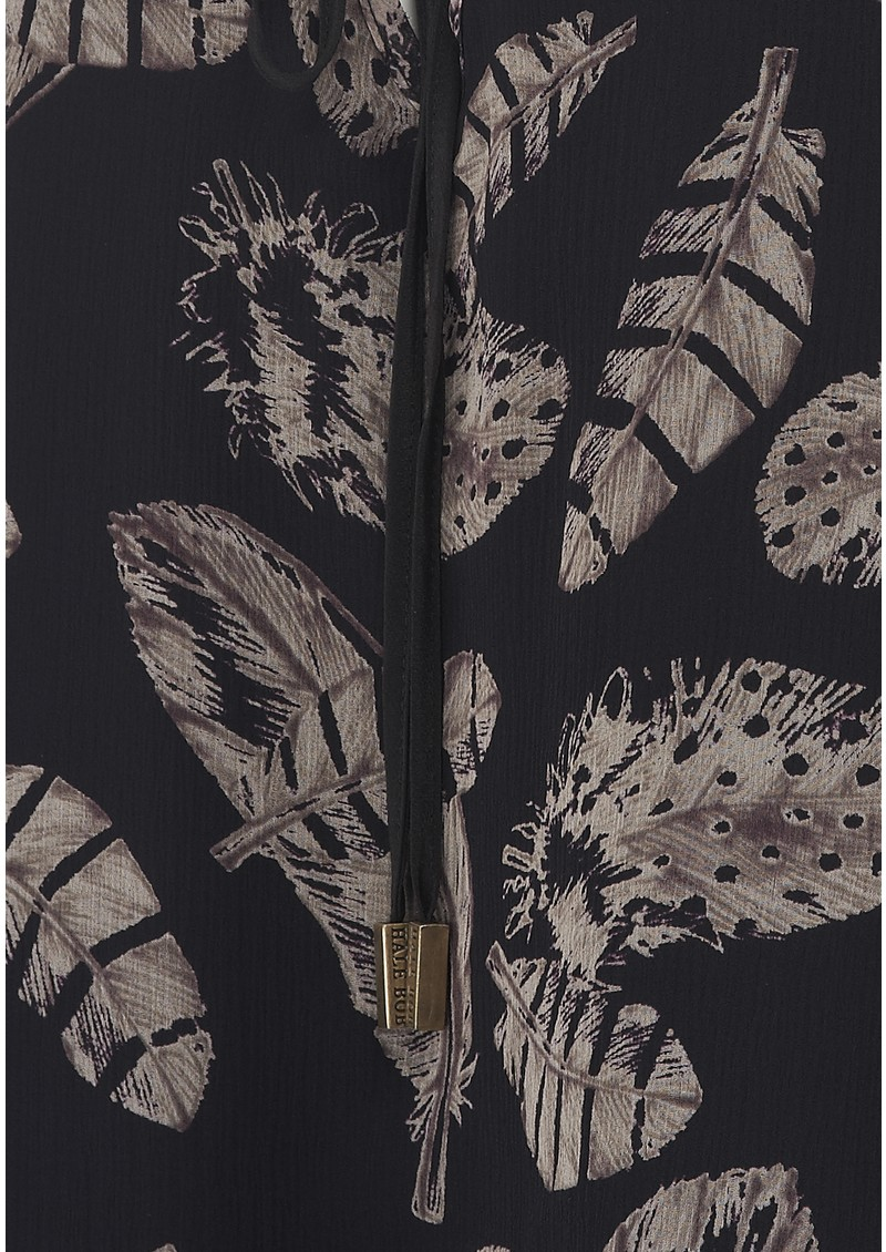 Hale Bob Behati Feather Print Top - Black main image
