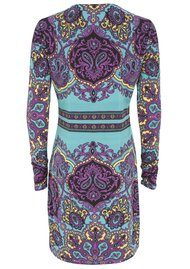 Hale Bob Print Dress - Teal