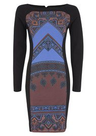 Hale Bob Fiona Panel Dress - Purple