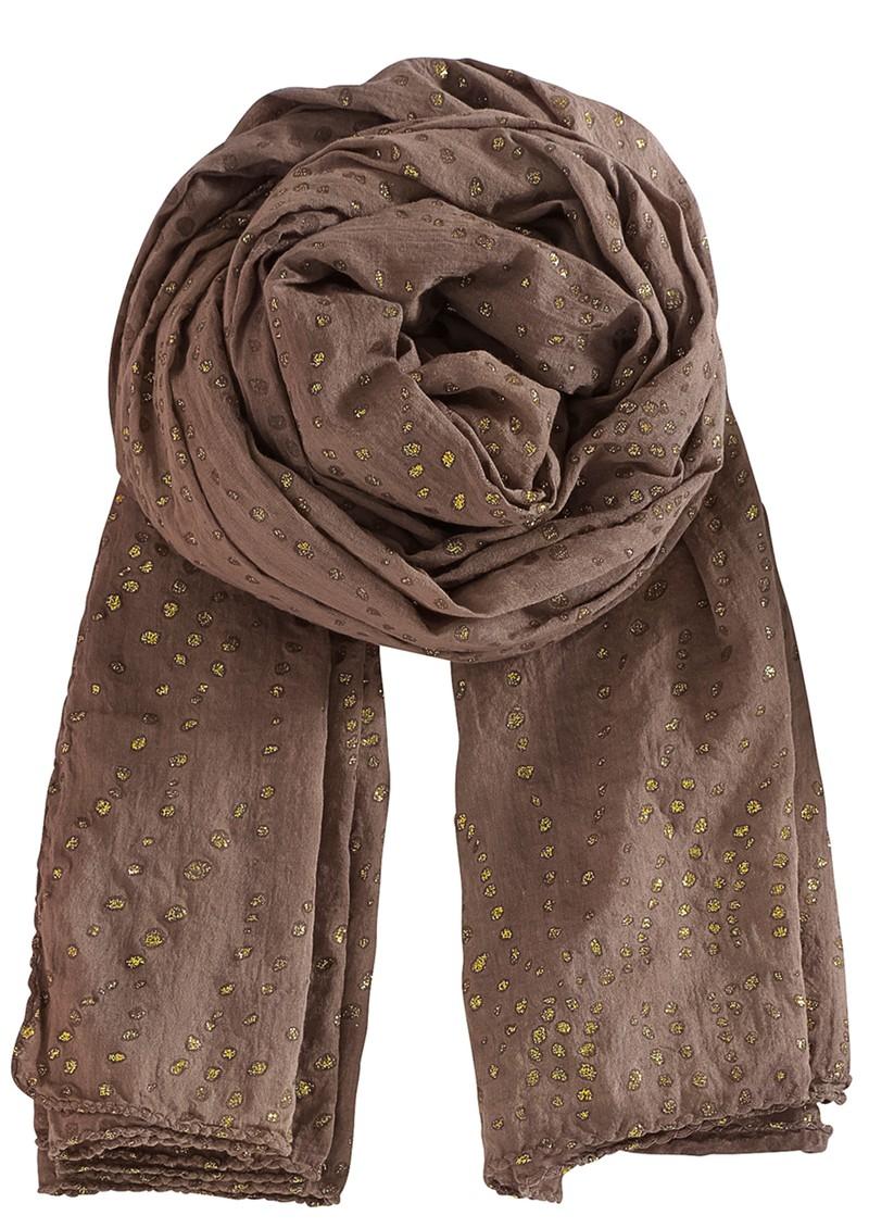 becksondergaard glamorous snow scarf in fossil brown