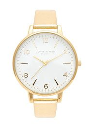 Olivia Burton High Shine Metal Large Face Watch - Gold