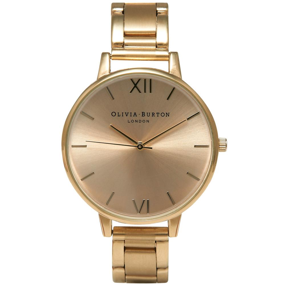 Big Dial Bracelet Watch - Gold