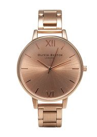Olivia Burton Big Dial Bracelet Watch - Rose Gold