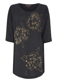 Great Plains Metallic Tunic - Black