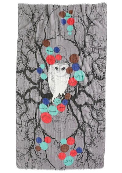 Becksondergaard Movember Silk & Wool Mix Scarf - Cloudy Lilac main image