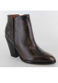 Lola Cruz Brushed Leather Ankle Boots - Black