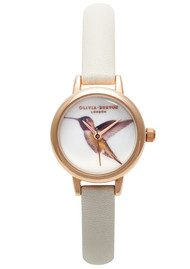 Olivia Burton Mini Woodland Hummingbird Watch - Mink