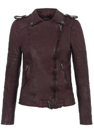 Muubaa Nido Quilted Biker Jacket - Deep Red