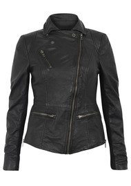 Muubaa Sirius Biker Leather Jacket - Black