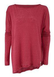 Twisted Muse Pippi Linen Assymetric Top - Raspberry