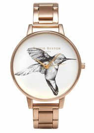 Olivia Burton Animal Motif Hummingbird Bracelet Watch - Rose Gold