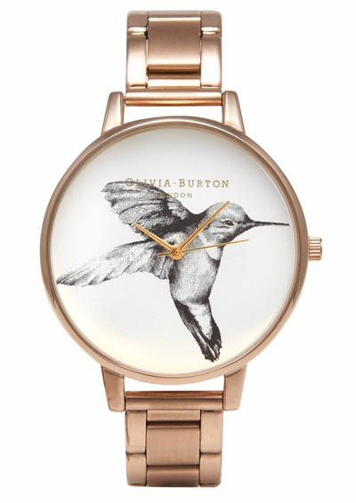 Olivia Burton Animal Motif Hummingbird Bracelet Watch - Rose Gold main image