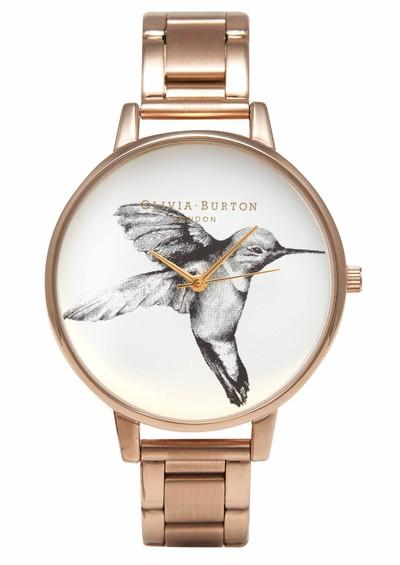 Olivia Burton Animal Motif Hummingbird Bracelet Watch - Rose Gold main image