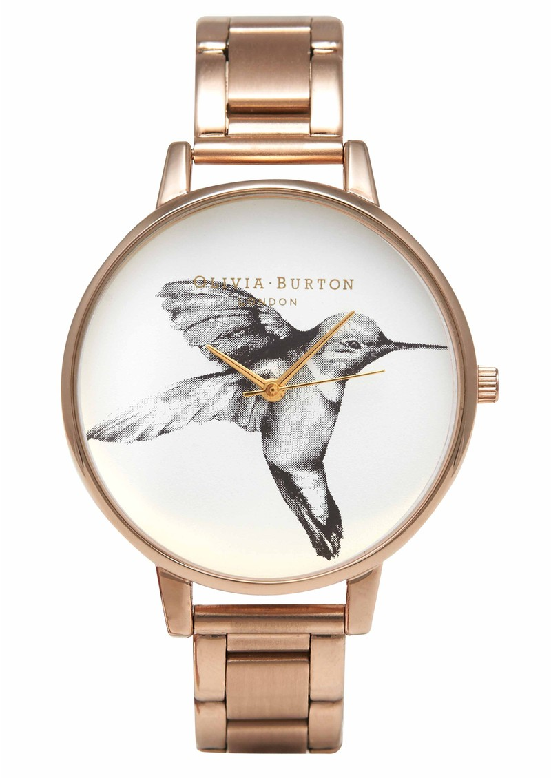 Animal Motif Hummingbird Bracelet Watch - Rose Gold main image