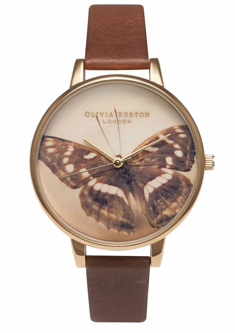 Olivia Burton Woodland Butterfly Watch - Brown main image