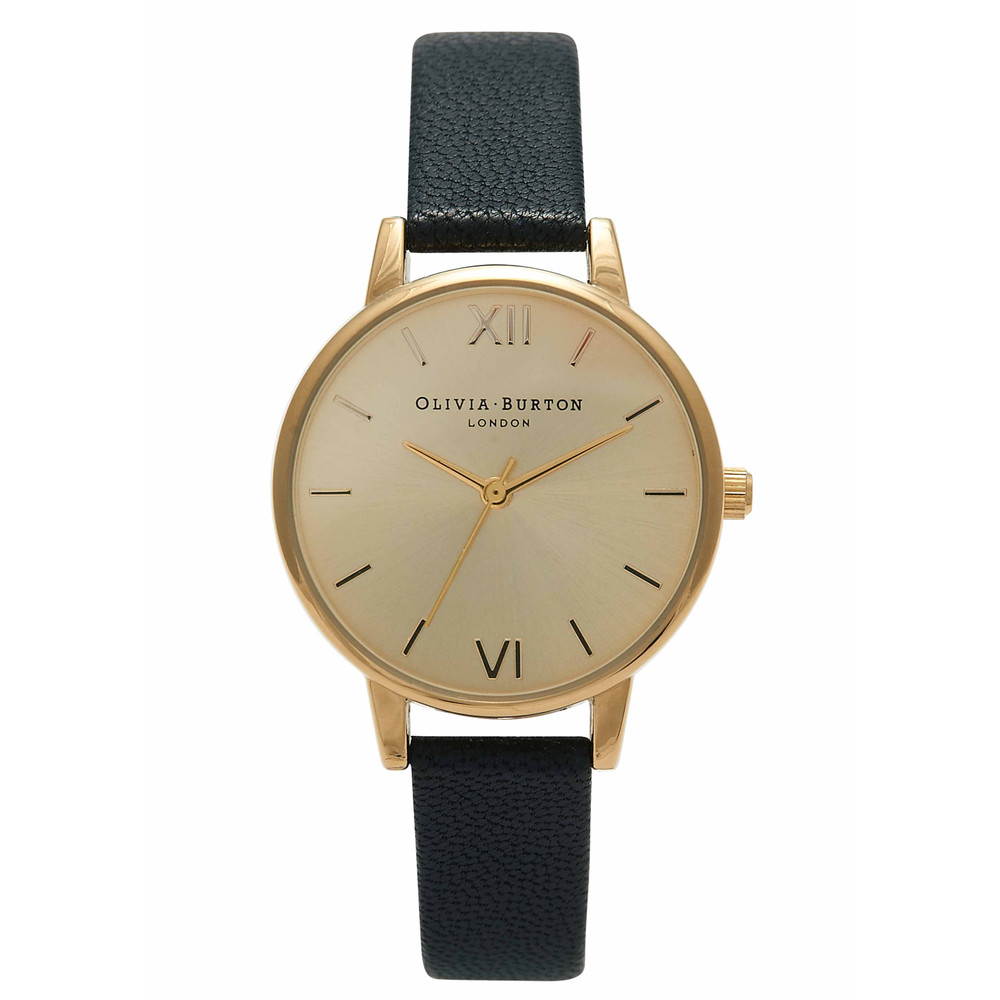 Midi Dial Watch - Black & Gold