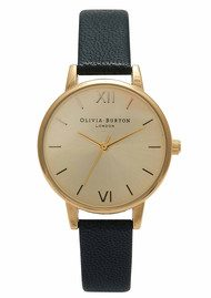 Olivia Burton Midi Dial Watch - Black & Gold