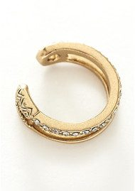 House Of Harlow Pave Safety Pin Ring - Gold
