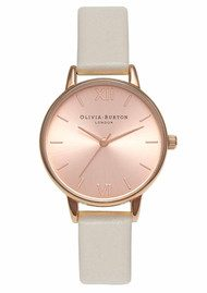 Olivia Burton Midi Dial Watch - Mink & Rose Gold