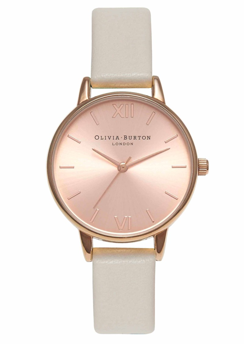 Midi Dial Watch - Mink & Rose Gold main image