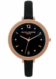 Olivia Burton Modern Vintage Watch - Black & Rose Gold