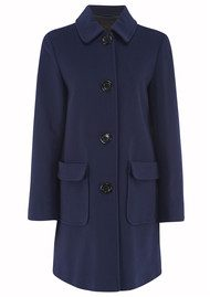 Great Plains Hartland Button Coat - Navy