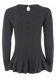 Great Plains Pretty Peplum Knit - Raven