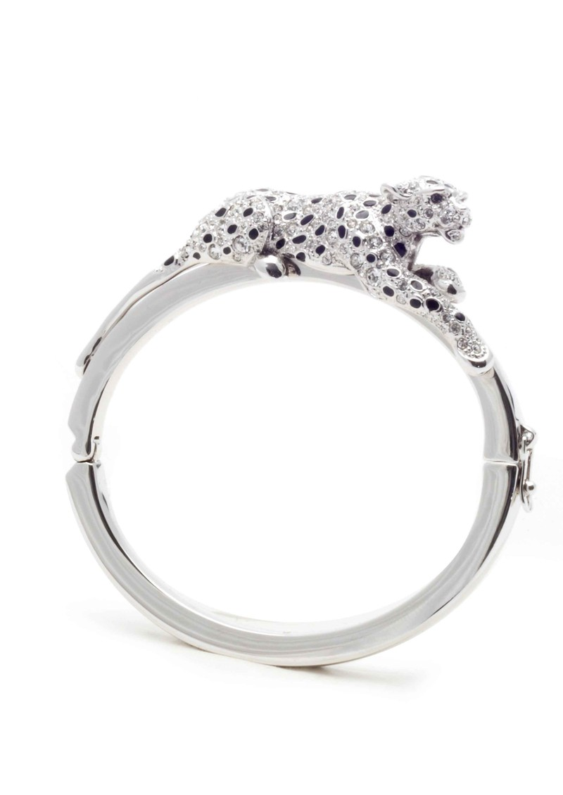 Snow Leopard Bangle - Silver main image