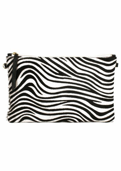 1951 Maison Francaise  Zebra Clutch Bag - Black & White main image