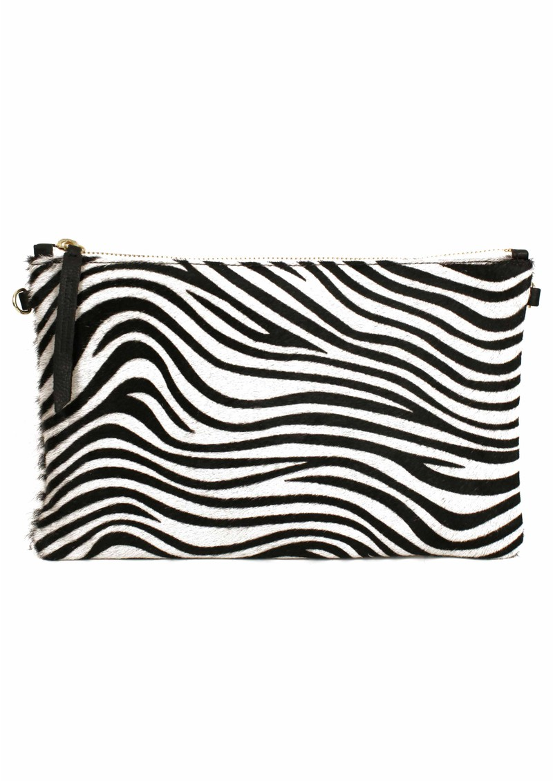 Zebra Clutch Bag - Black & White main image