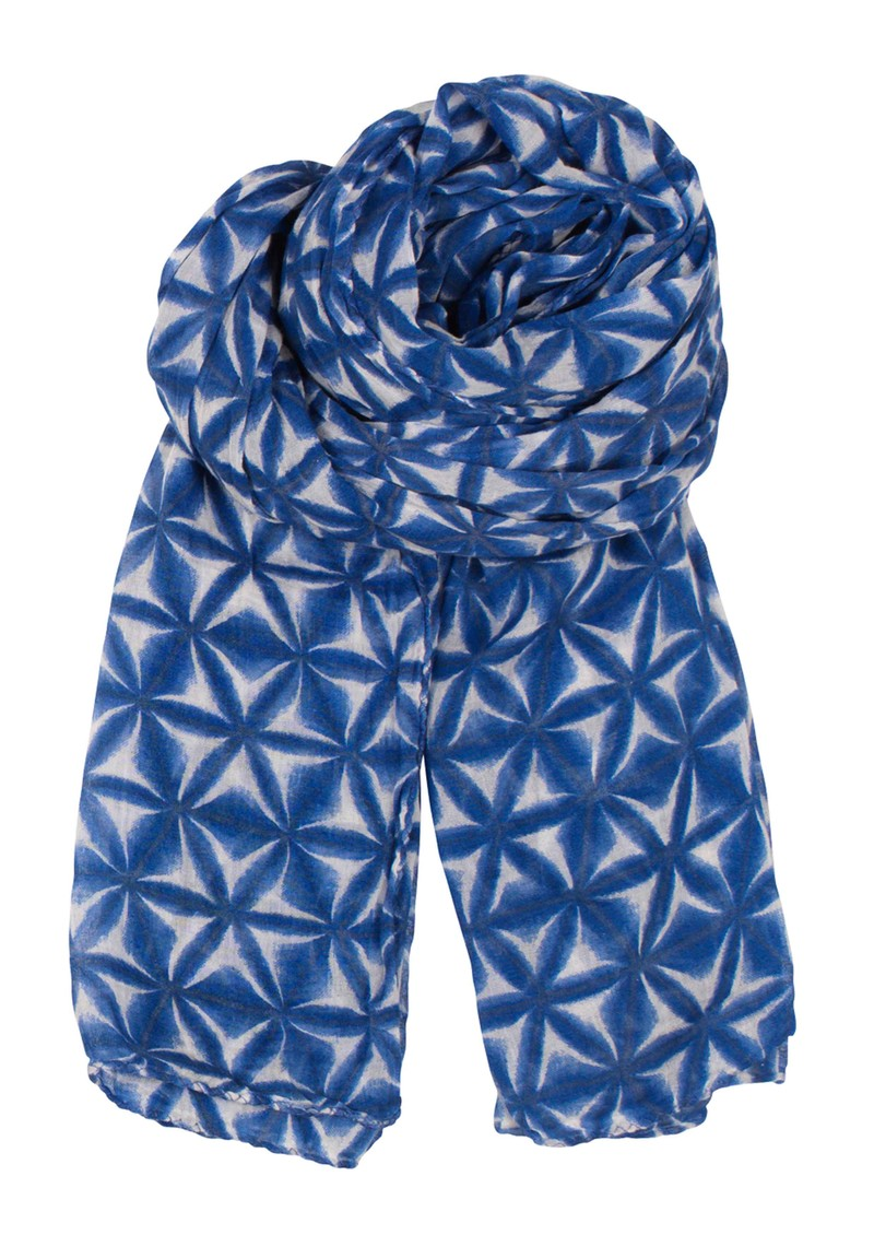 H Ombre Fleur Scarf - Highlight Blue main image