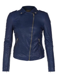Muubaa Carmona Biker Leather Jacket - Mazzarine