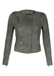 Muubaa Ramu Leather Jacket - Shadow