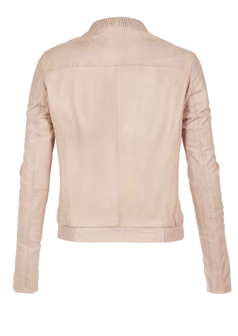 Steenbras Leather Jacket - Nude main image