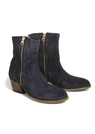 H By Hudson Riley Suede Ankle Boot - Navy main image
