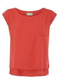 Aries Slouchy Top - Tomato