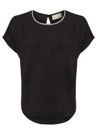 Essa Embellished Top - Black